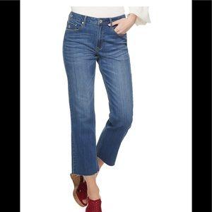 American Rag wide leg frayed jeans